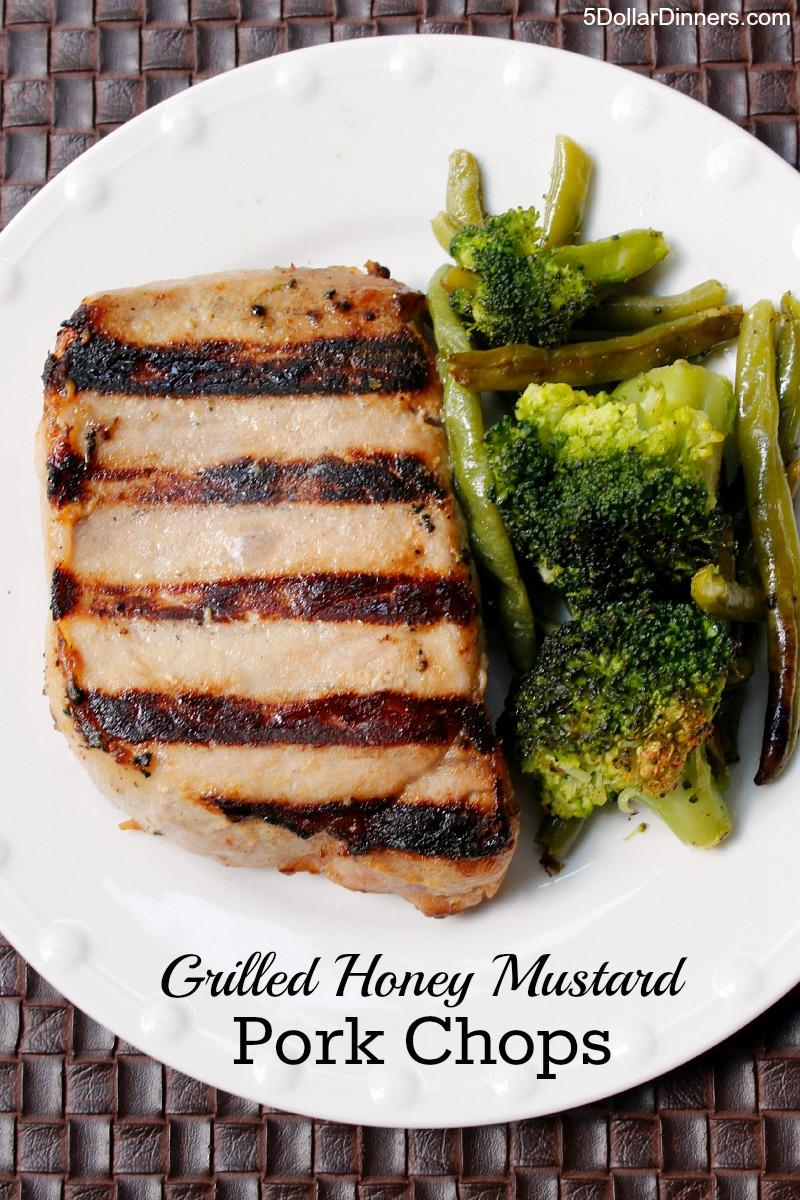 Grilled Honey Mustard Pork Chops from 5DollarDinners.com