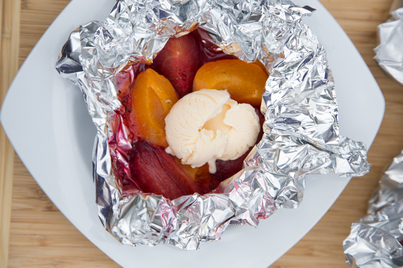 Grilled Plums & Apricots