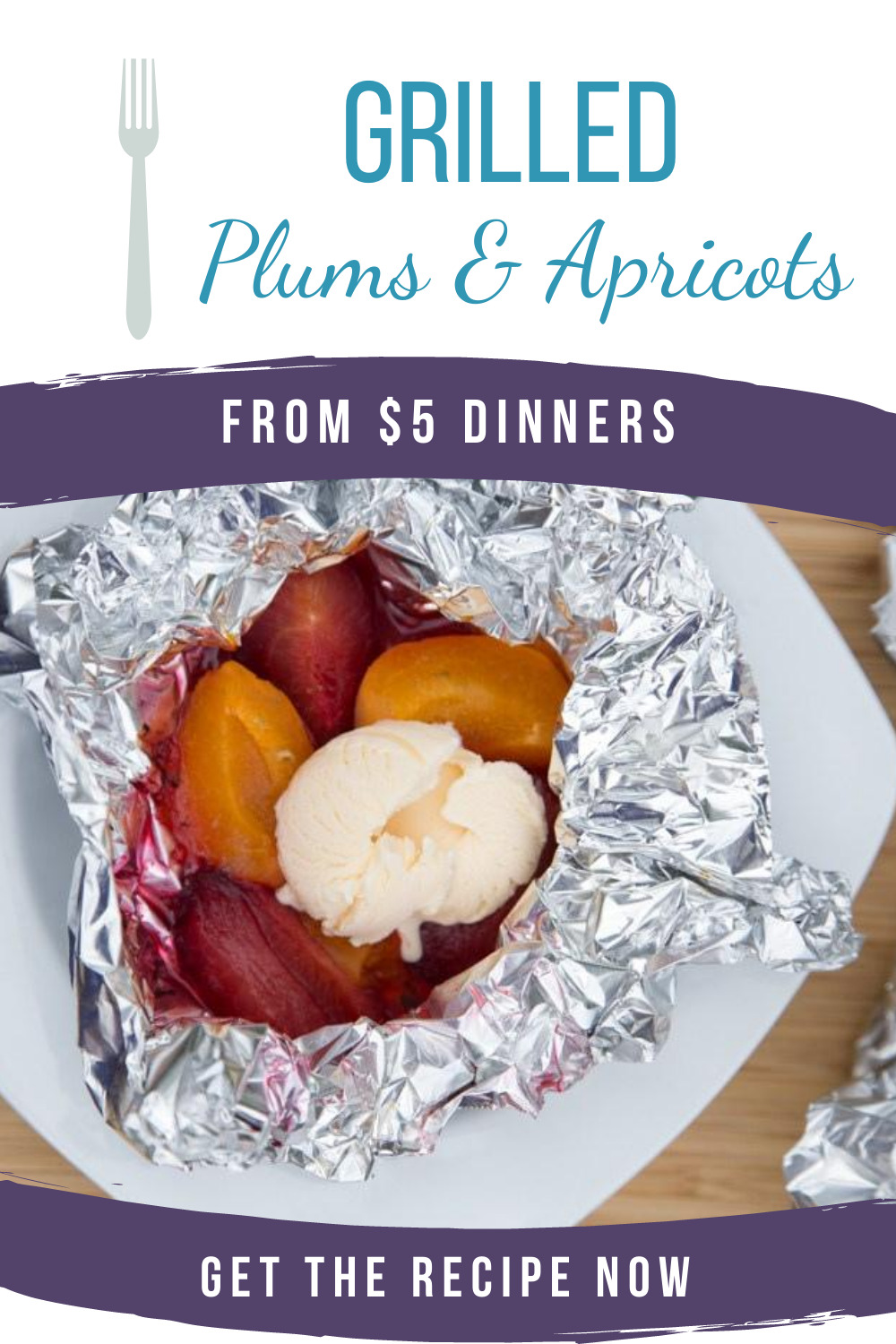 grilled plums and apricots