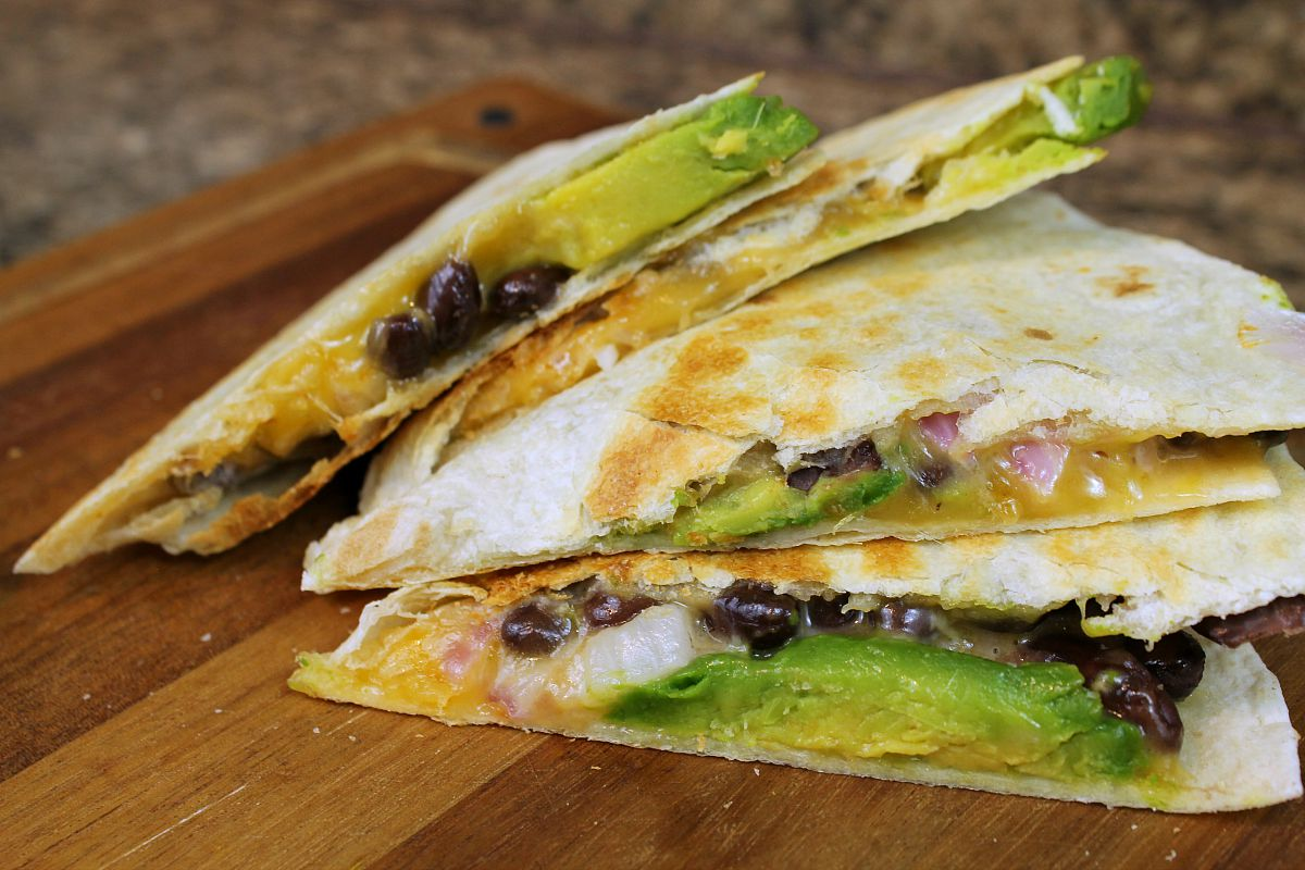 Avocado and Black Bean Quesadillas from 5DollarDinners.com
