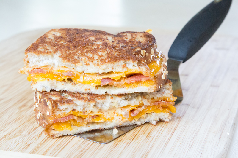 Bacon Honey Mustared Grilled Cheese