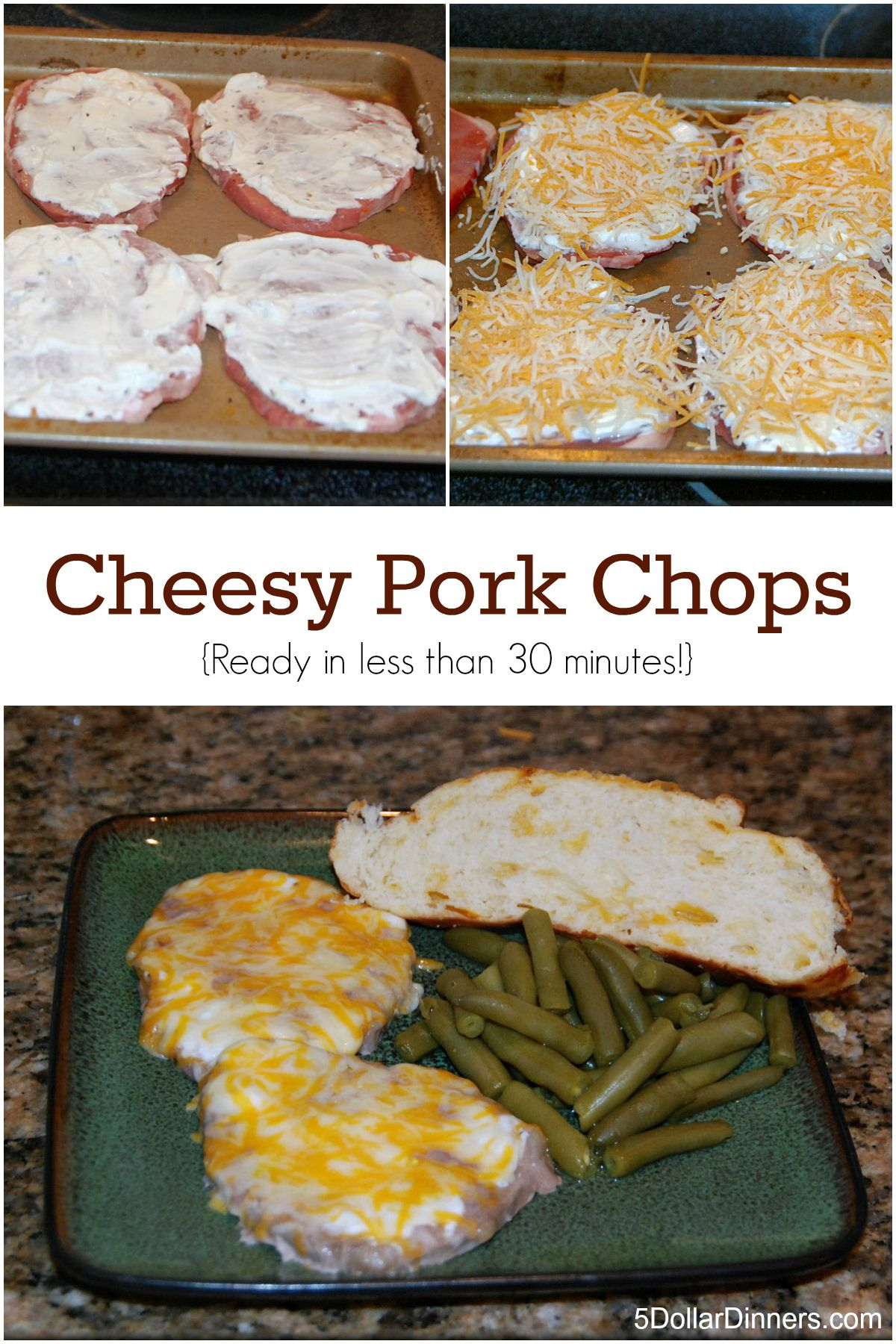 Cheesy Pork Chops from 5DollarDinners.com