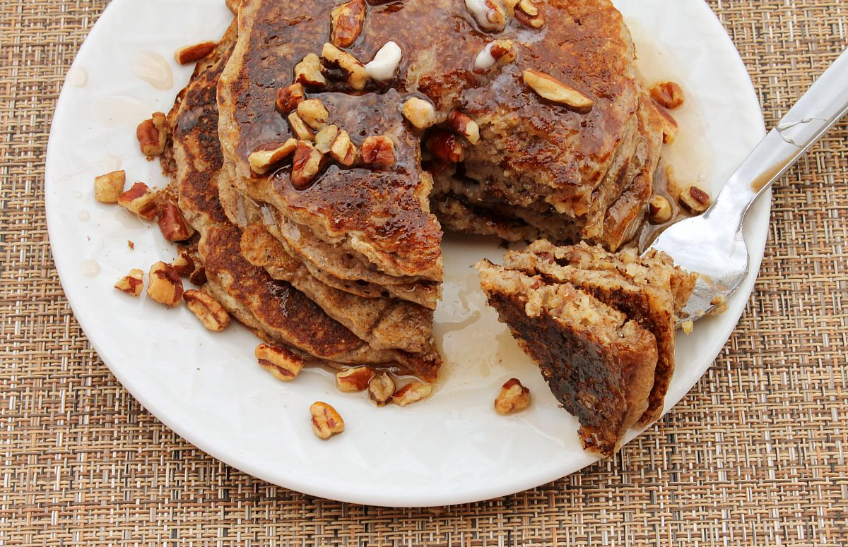 Multi-Grain and Nut Pancakes