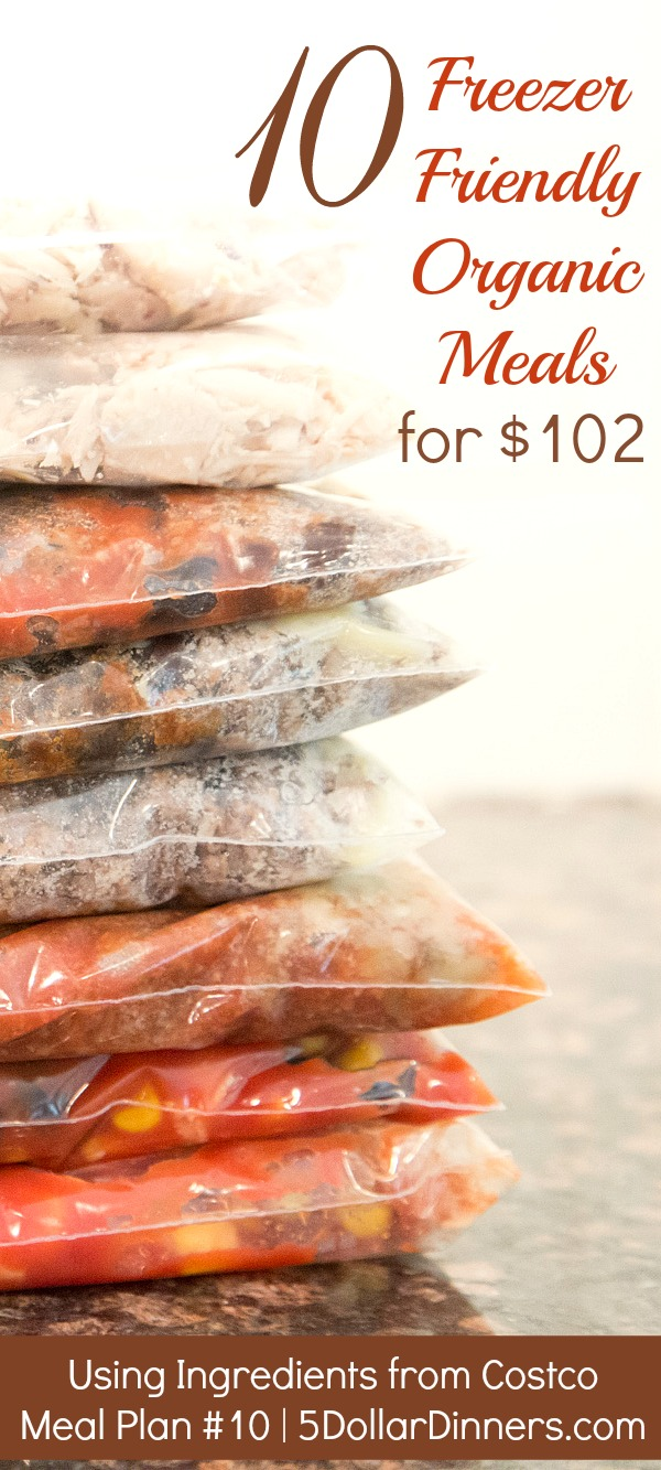 10 Freezer Friendly Organic Meals PIN