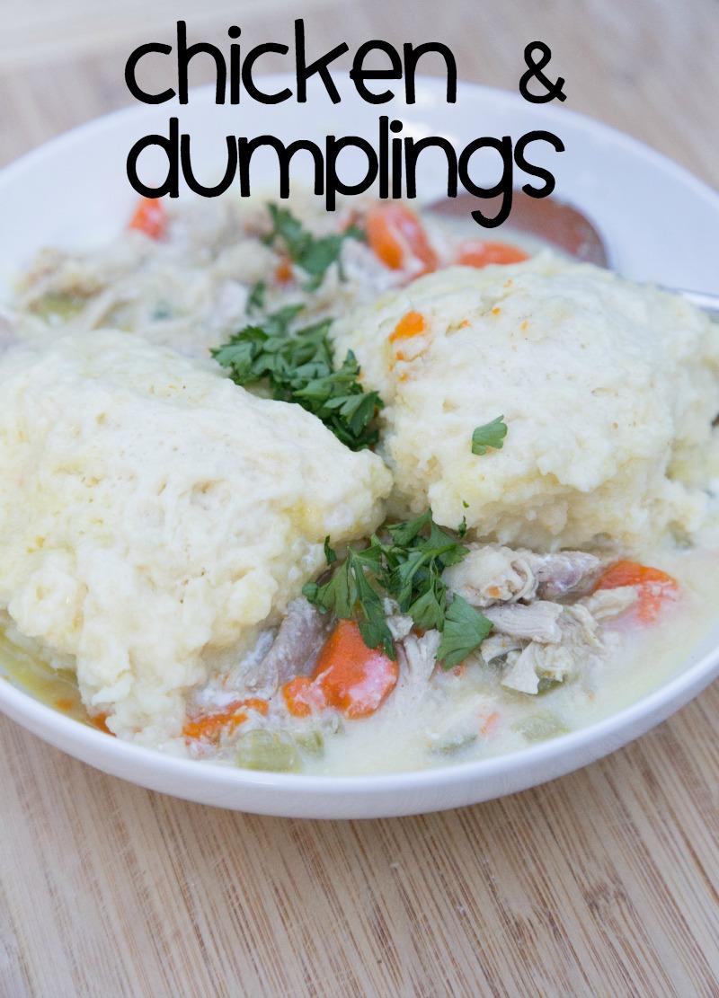 Chicken Dumplings Recipe on 5DollarDinners.com