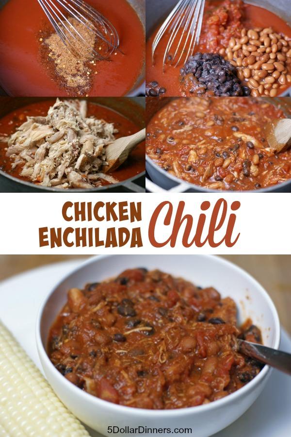 Chicken Enchilada Chili from 5DollarDinners.com