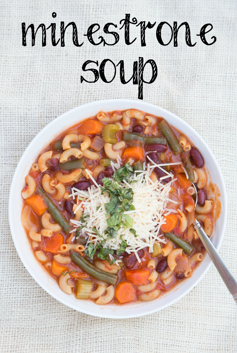 Minestrone Soup Recipe on 5DollarDinners.com
