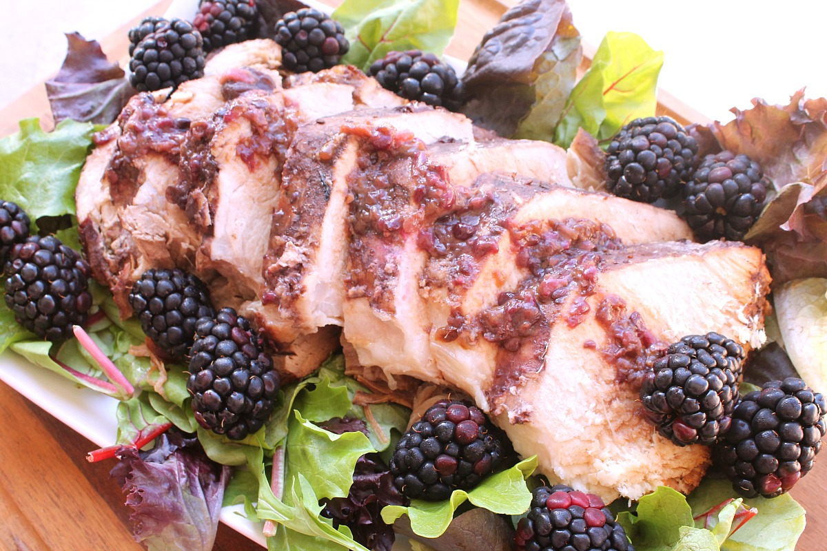 Slow Cooker Blackberry Ginger Pork Loin