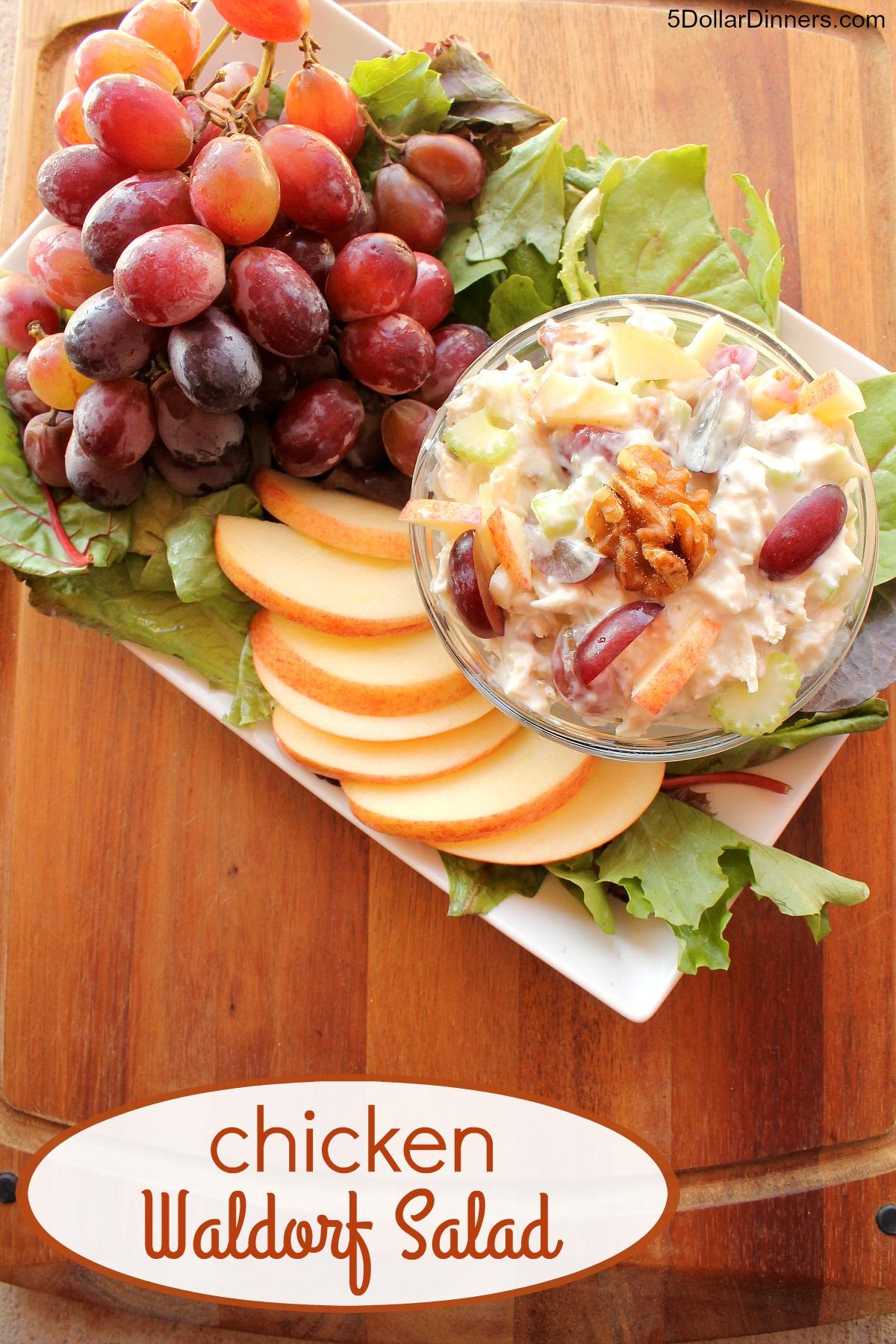 Chicken Waldorf Salad from 5DollarDinners.com