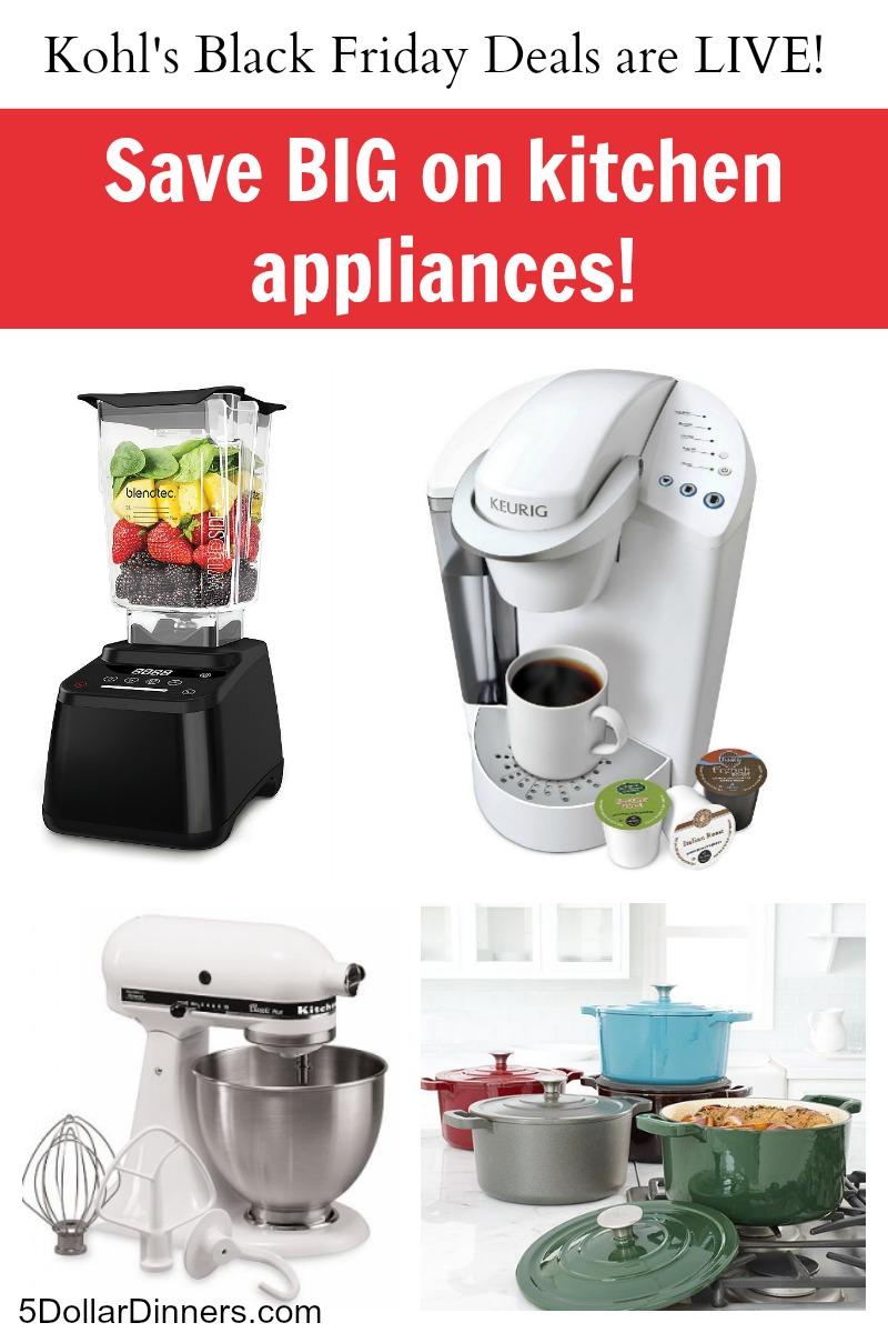 Kohls Black Friday Sale on Kitchen Appliances