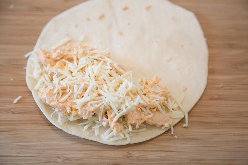Buffalo Chicken Quesadillas-6