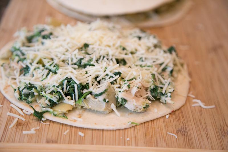 Chicken, Spinach & Artichoke Quesadilla-4