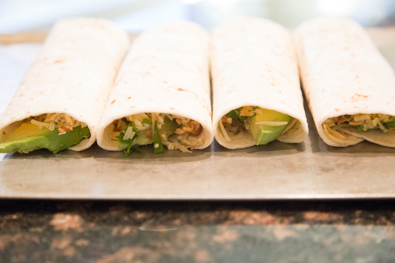Salsa Verde Chicken Burritos-3