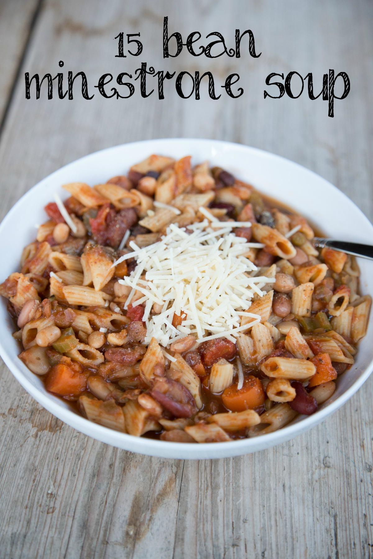 15 Bean Minestrone Soup on 5DollarDinners.com
