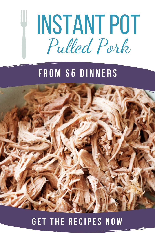 instant pot pulled pork recipe