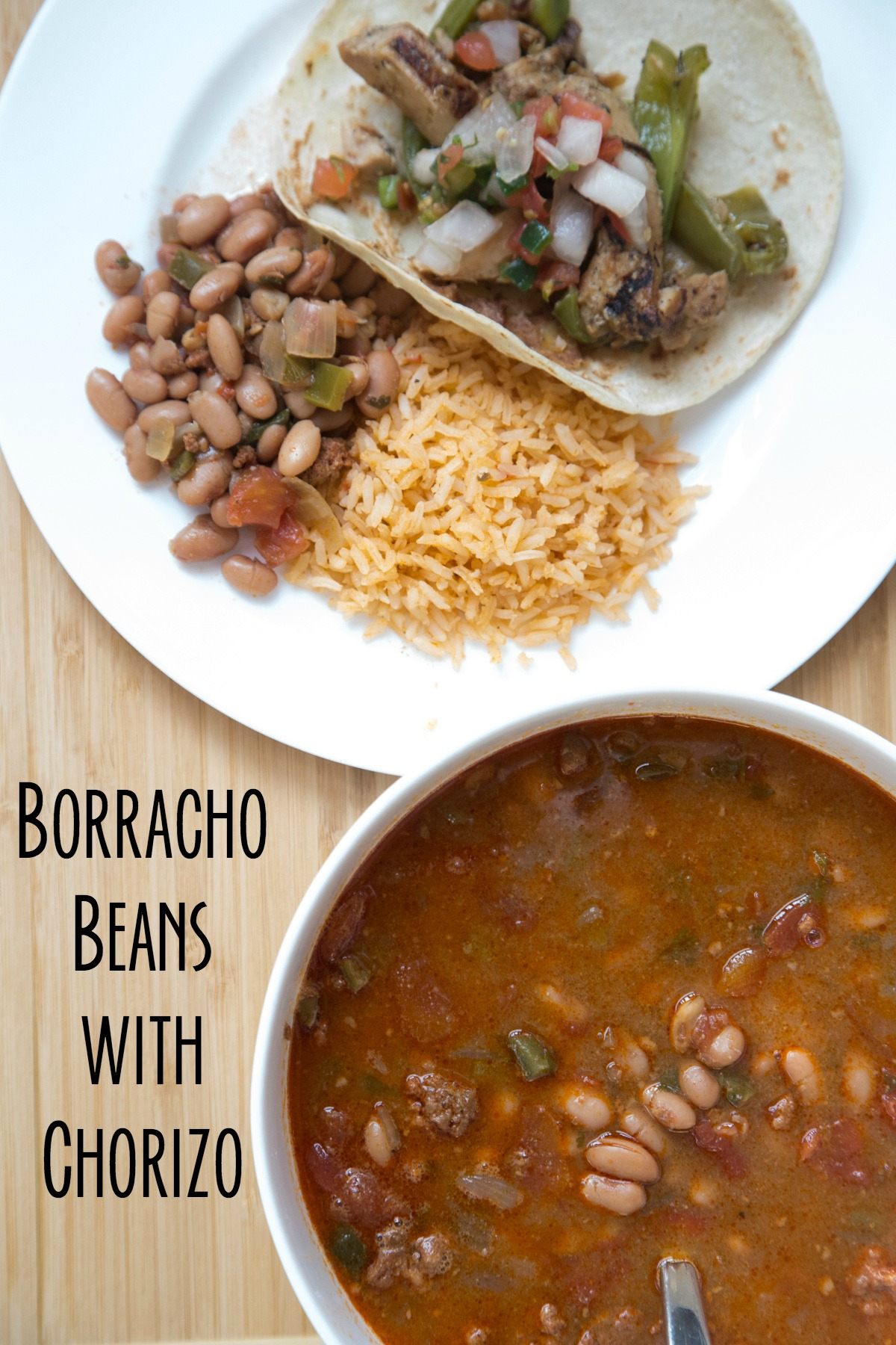 Borracho Beans with Chorizo on 5DollarDinners.com