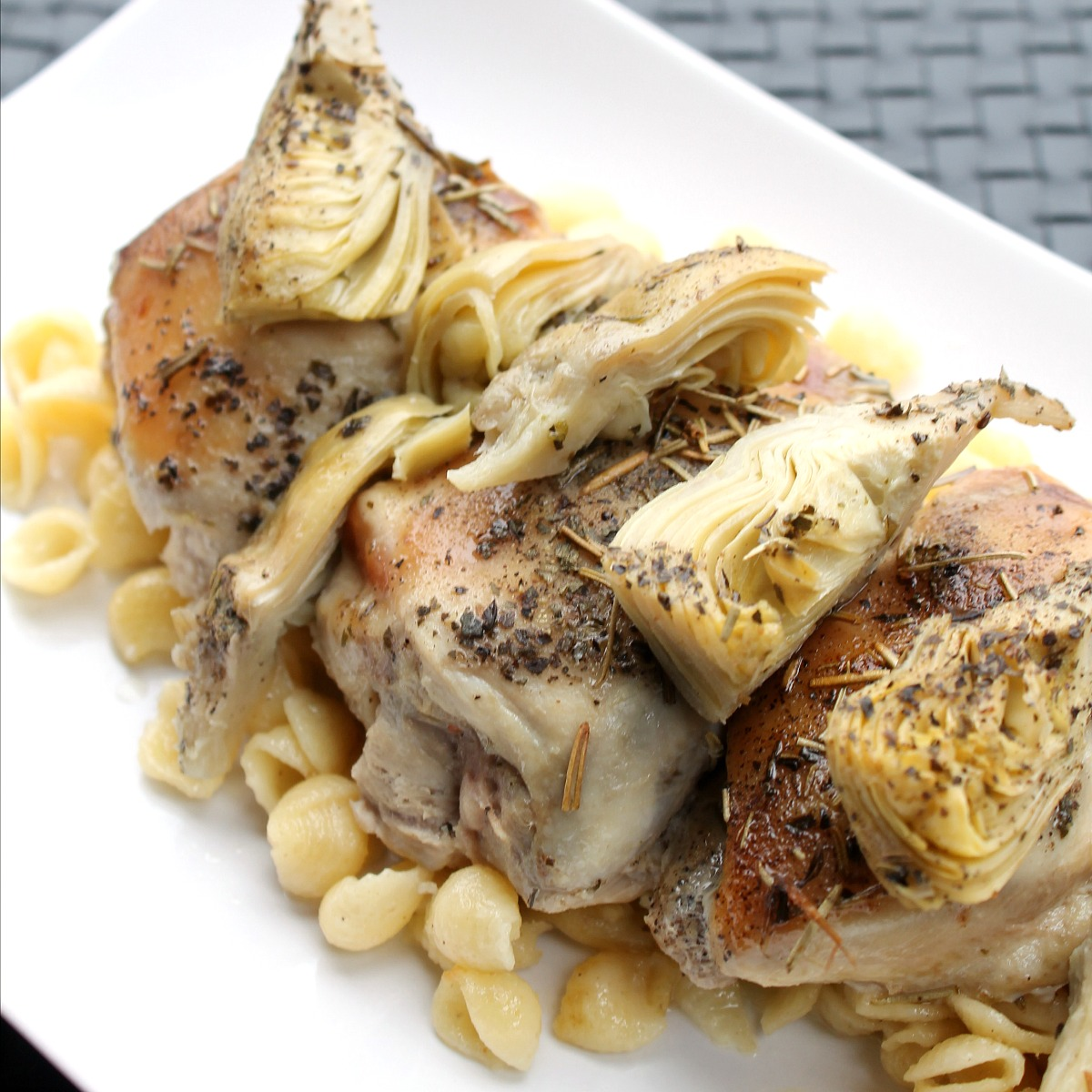 Rosemary Artichoke Chicken Thighs