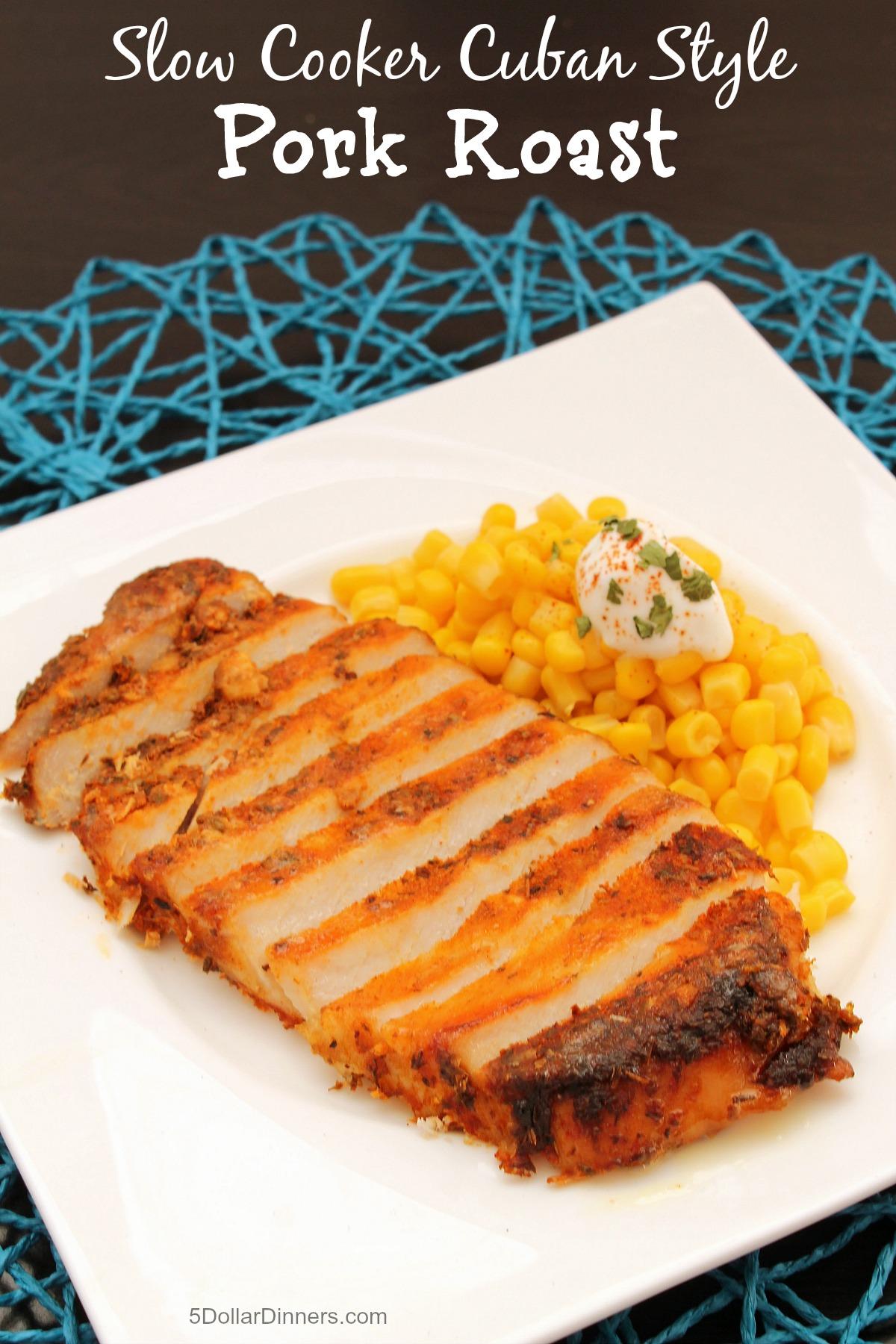 Slow Cooker Cuban Style Pork Roast from 5DollarDinners.com
