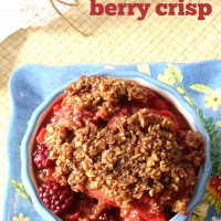 Slow Cooker Berry Crisp Recipe from 5DollarDinners.com