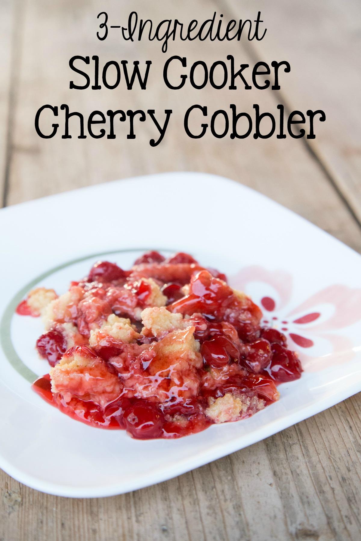 Slow Cooker Cherry Cobbler 5DollarDinners.com