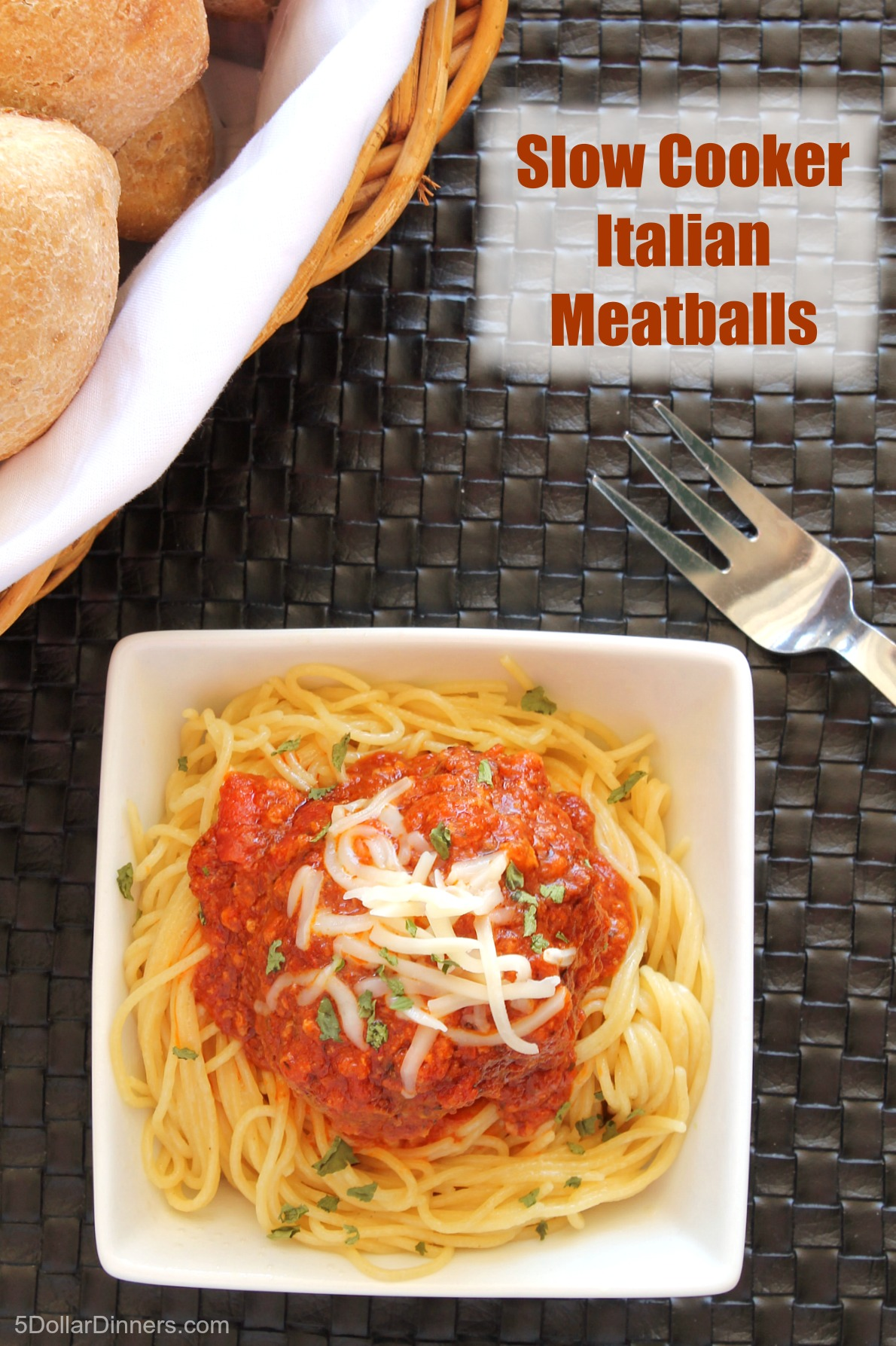 Slow Cooker Italian Meatballs from 5DollarDinners.com