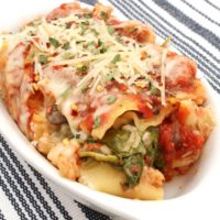 Slow Cooker Veggie Lasagna from 5DollarDinners.com