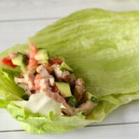 Chicken Caesar Lettuce Wraps from 5DollarDinners.com