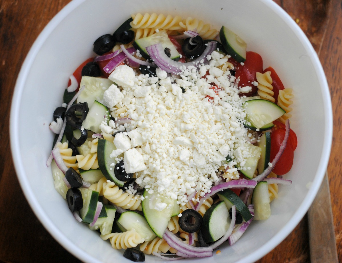 Greek Pasta Salad 2