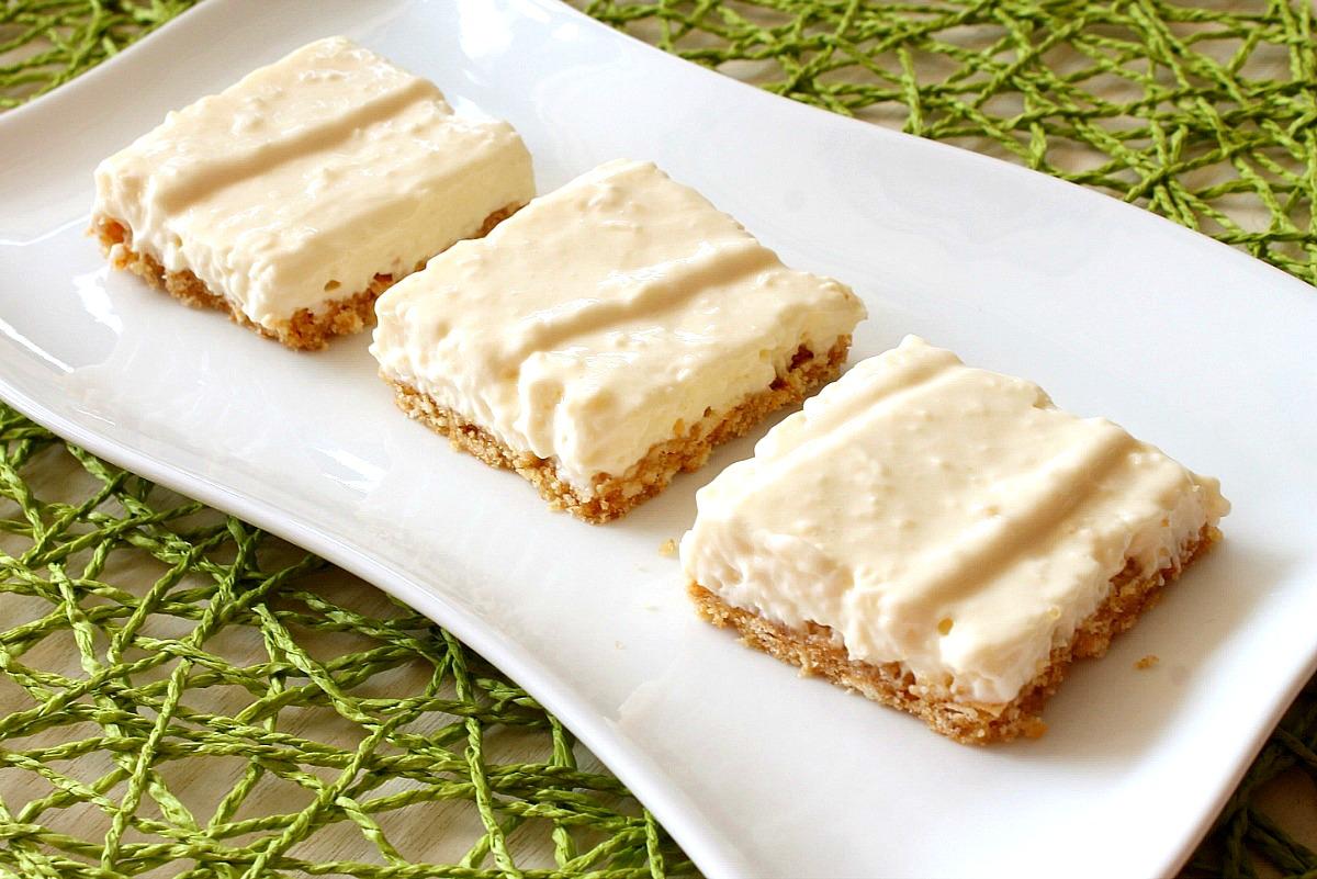 No Bake Coconut Key Lime Pie Squares Recipe from 5DollarDinners.com