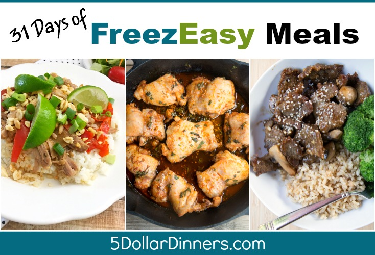 31 days of freezeasy meals SQ