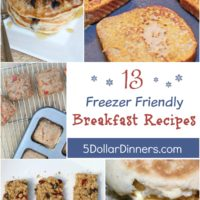 13 Freezer Friendly Breakfast Recipes from 5DollarDinners.com