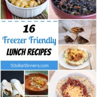 16 Freezer Friendly Lunch Recipes from 5DollarDinners.com