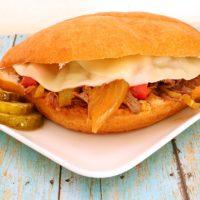 Slow Cooker Italian Beef Sandwiches from 5DollarDinners