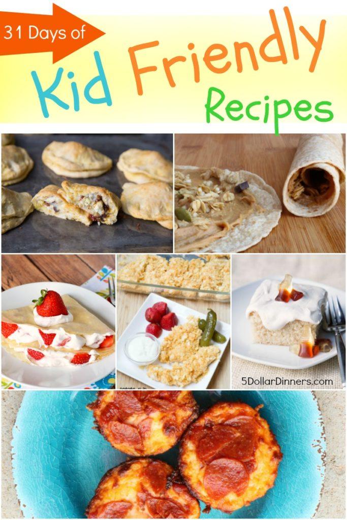 31 Days of Kid Friendly Recipes from 5DollarDinners.com