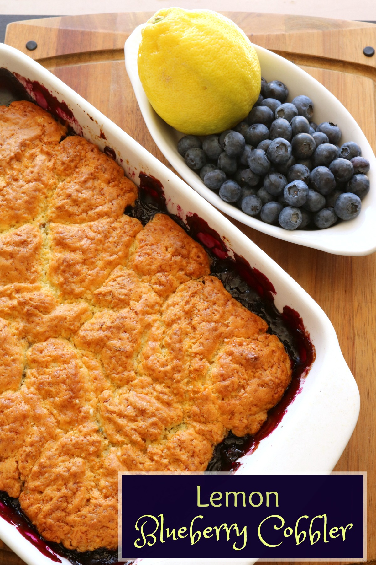 Lemon Blueberry Cobbler Recipe from 5DollarDinners.com