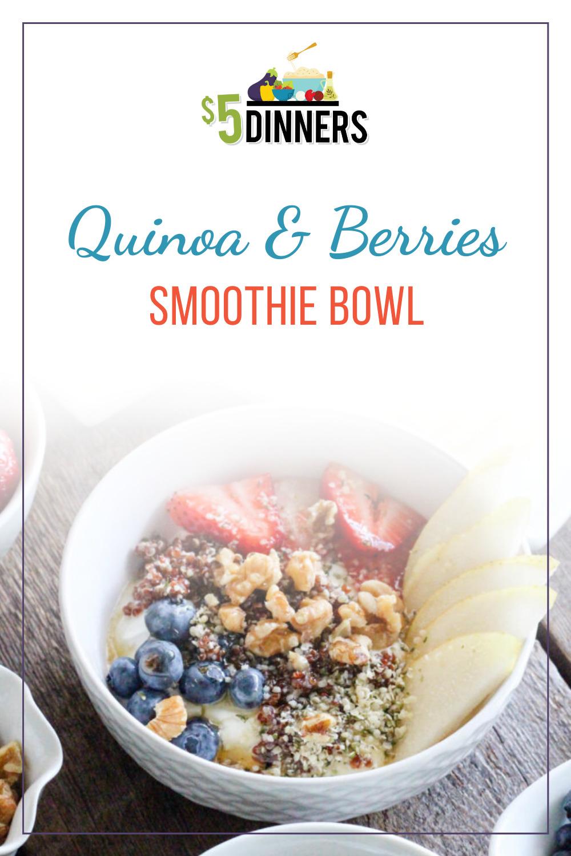 quinoa berries smoothie bowl