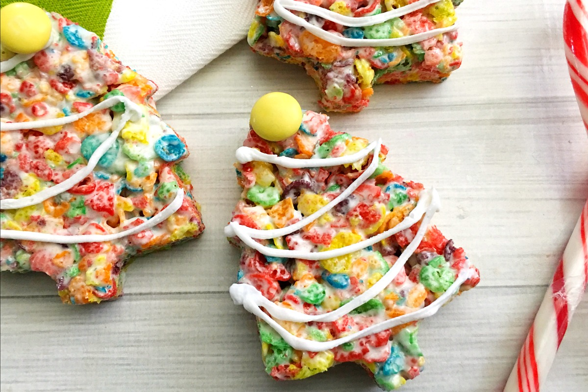 Fruity Pebbles Christmas Trees