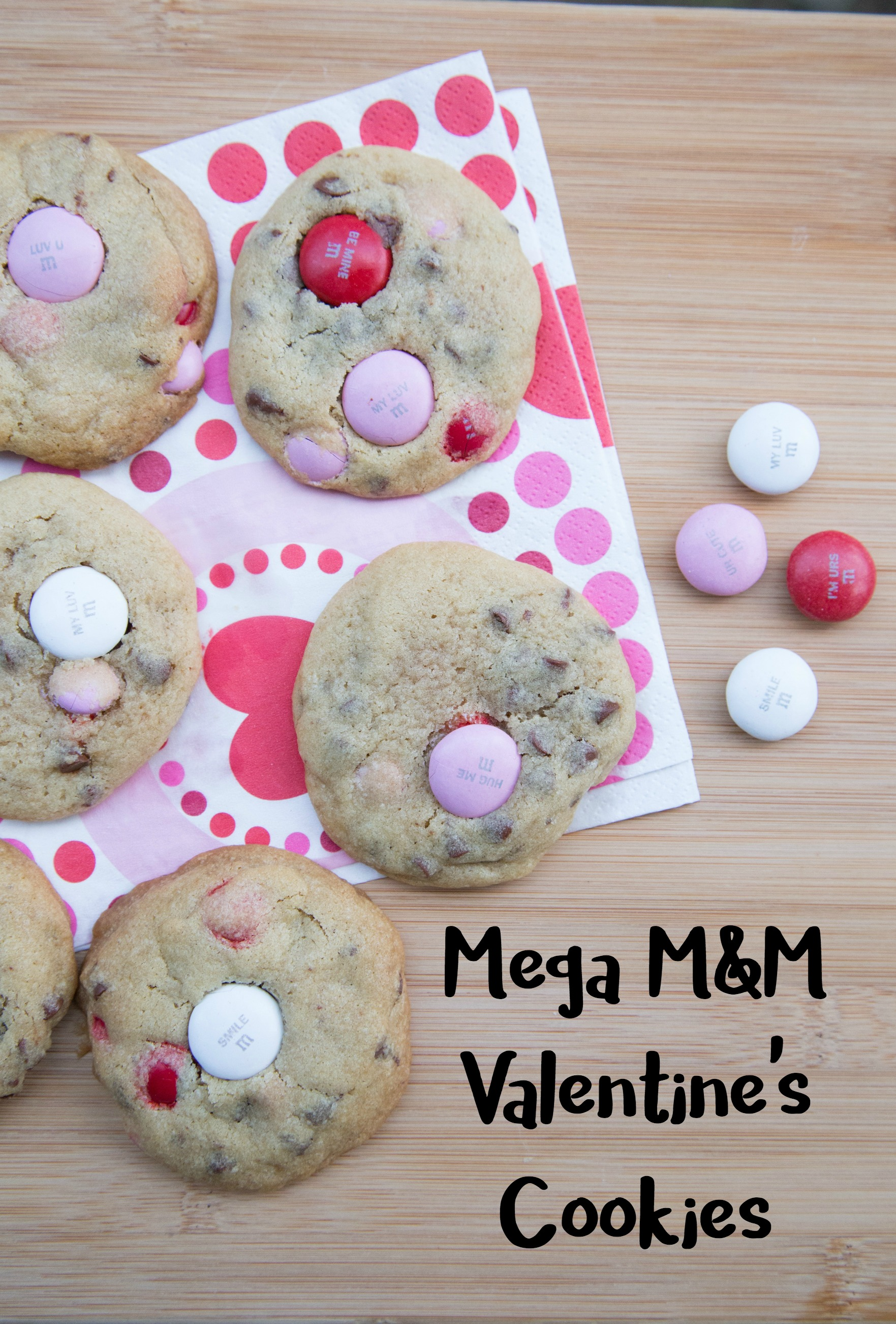 mega m&m valentine's cookies