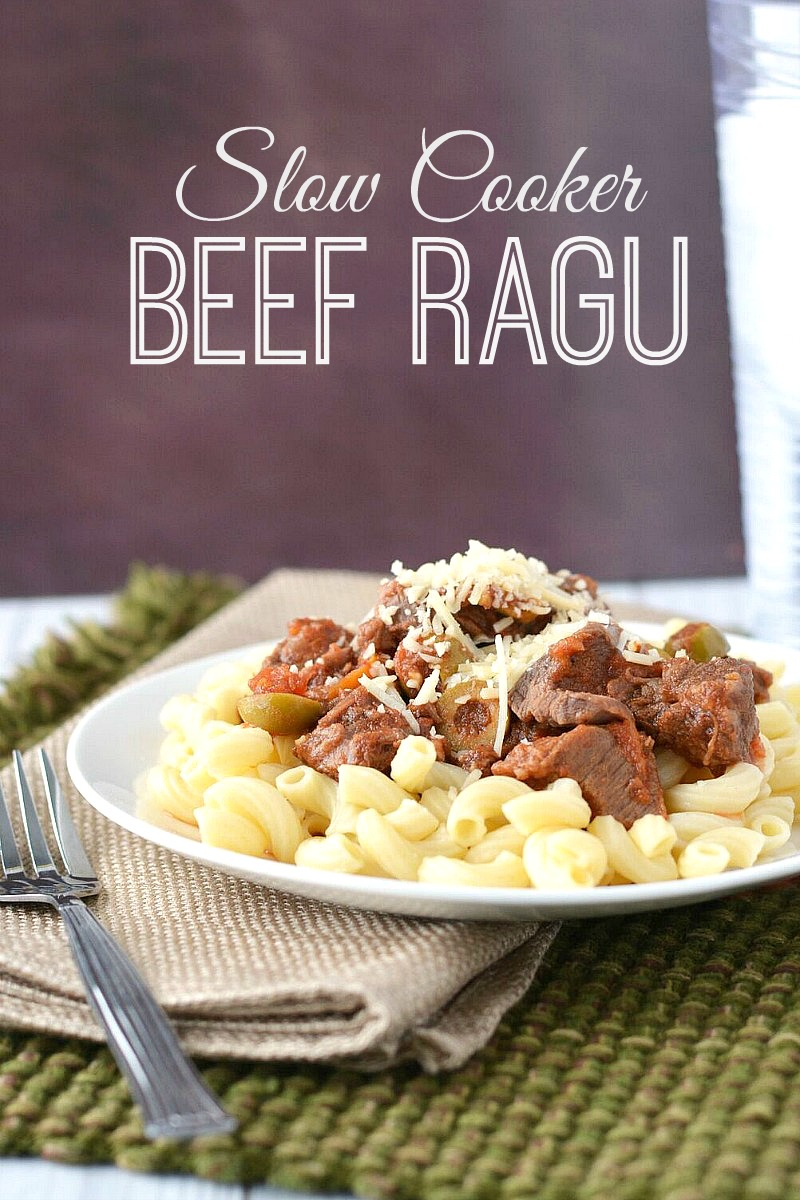 Slow Cooker Beef Ragu from 5DollarDinners.com