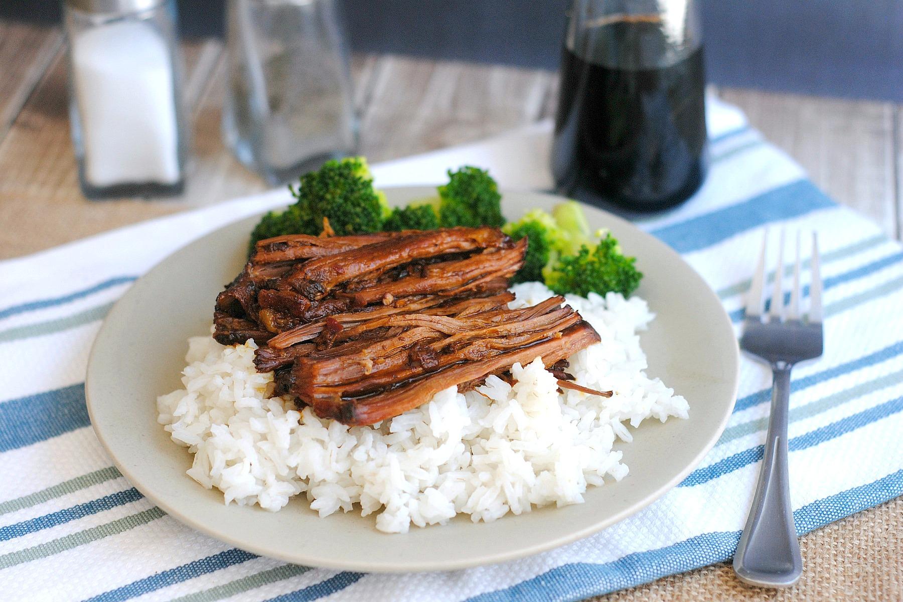 slow cooker asian shredded beef