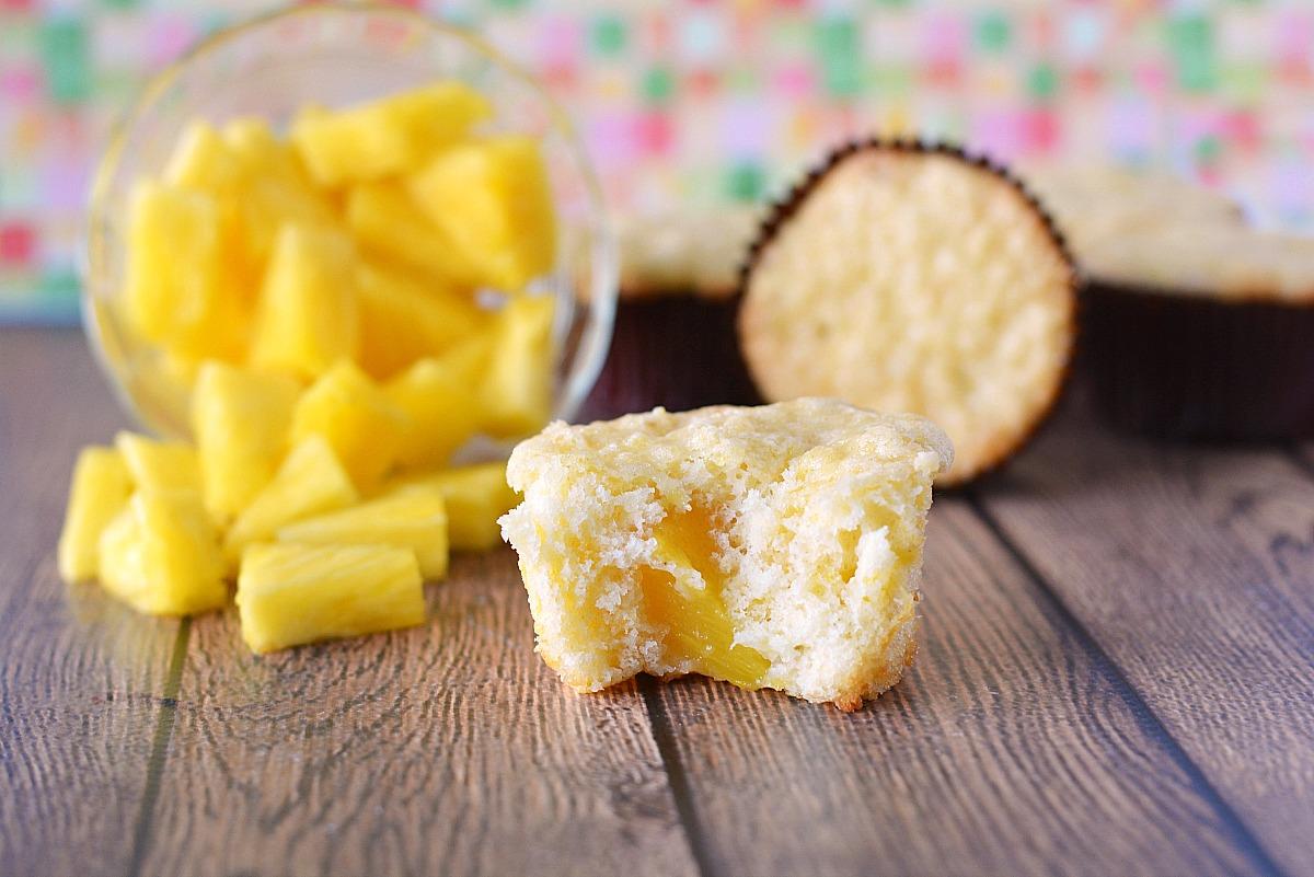 3 ingredient pineapple muffins