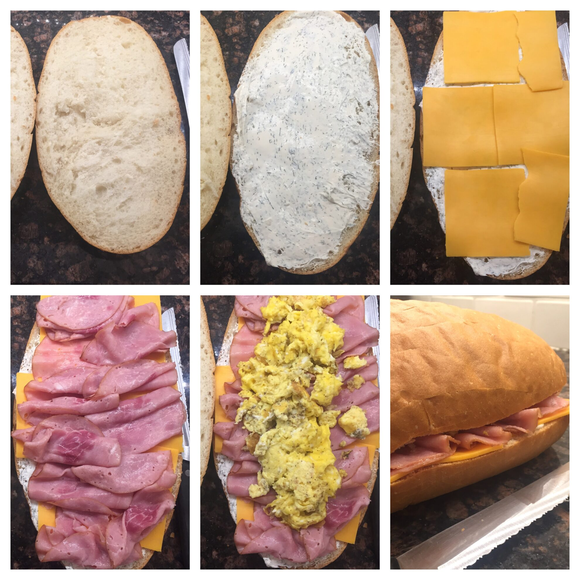 stuffed breakfast french bread