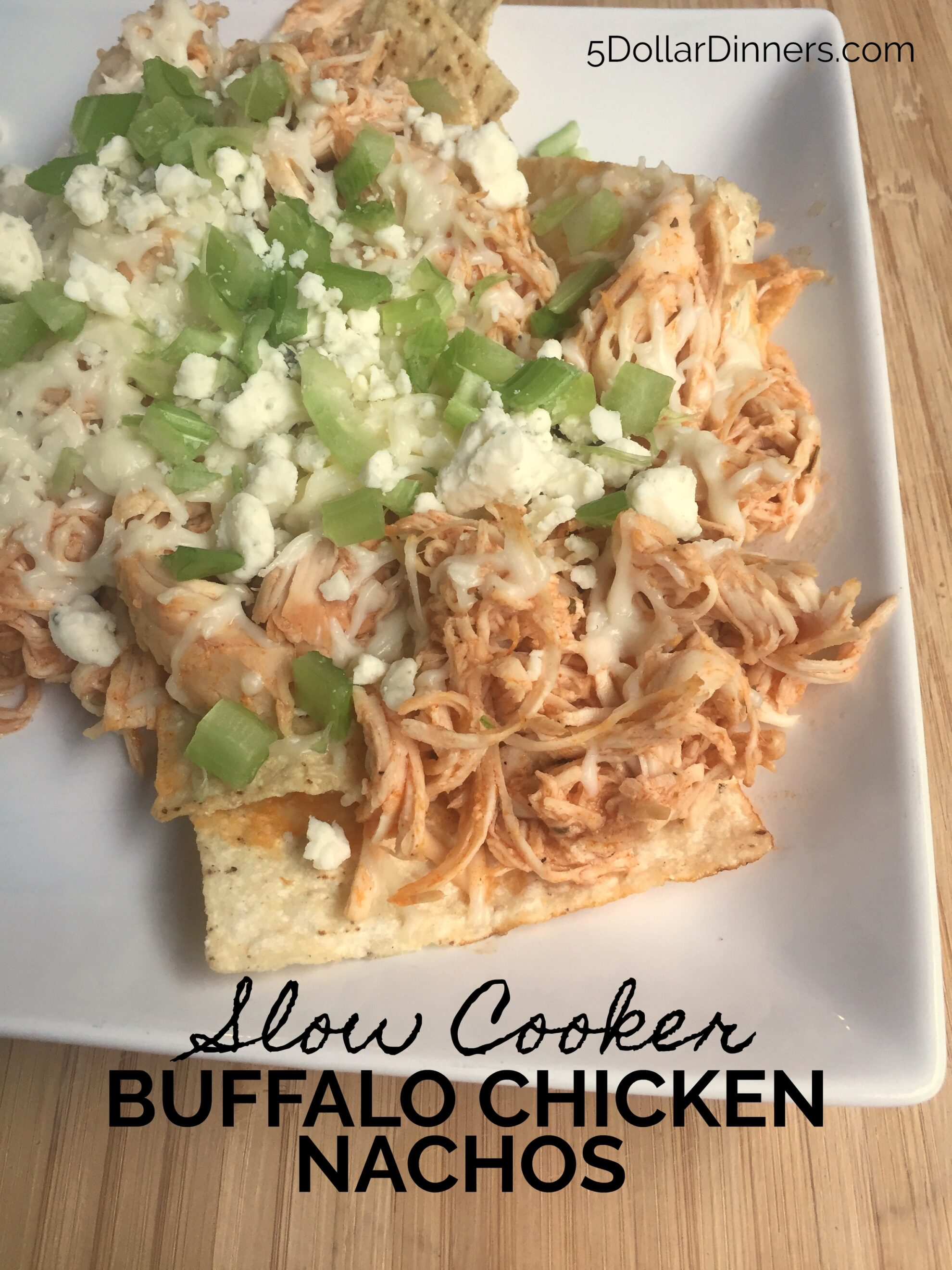 Slow Cooker Buffalo Chicken Nachos