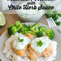 Spiced Grilled Chicken Thighs with chile-herb sauce