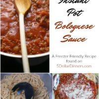 Freezer Friendly Instant Pot Bolognese Sauce from 5DollarDinners.com