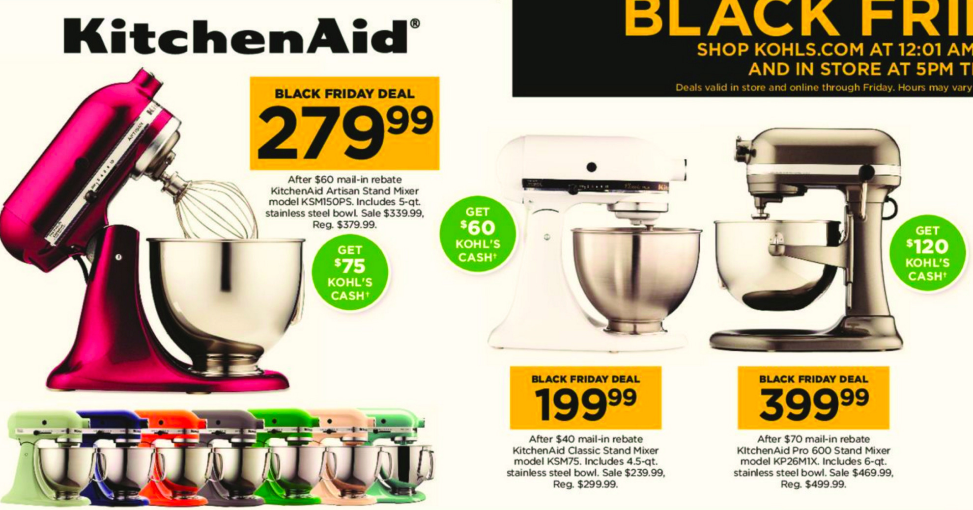 Fantastic Expired Kitchen Aid Stand Mixer Deals Kohls Black Home Interior And Landscaping Palasignezvosmurscom