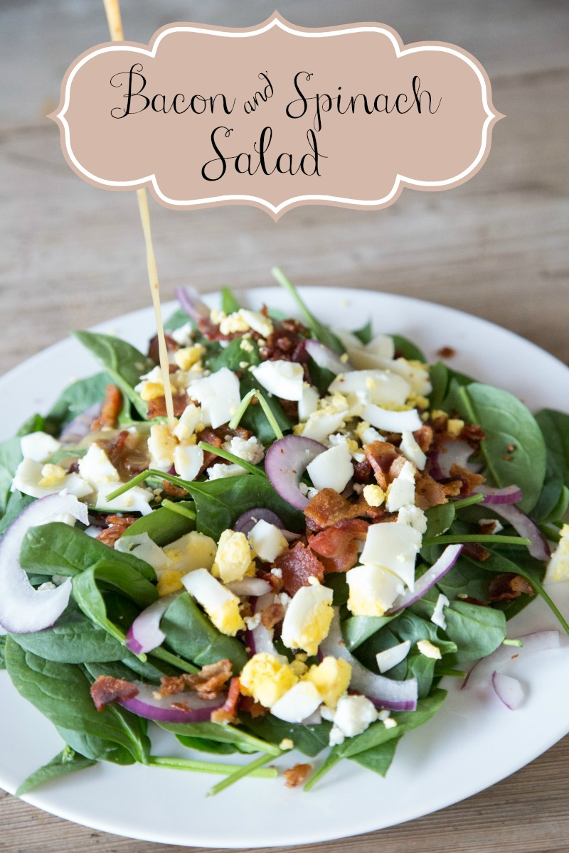 bacon and spinach salad with homemade dressing