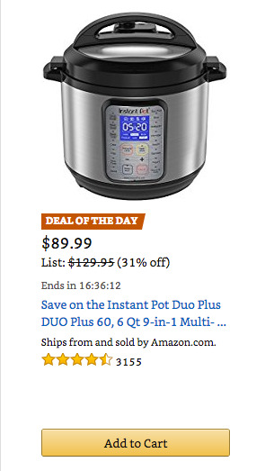 Best Price on Instant Pot!