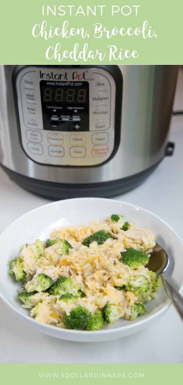 instant pot chicken broccoli and cheddar rice