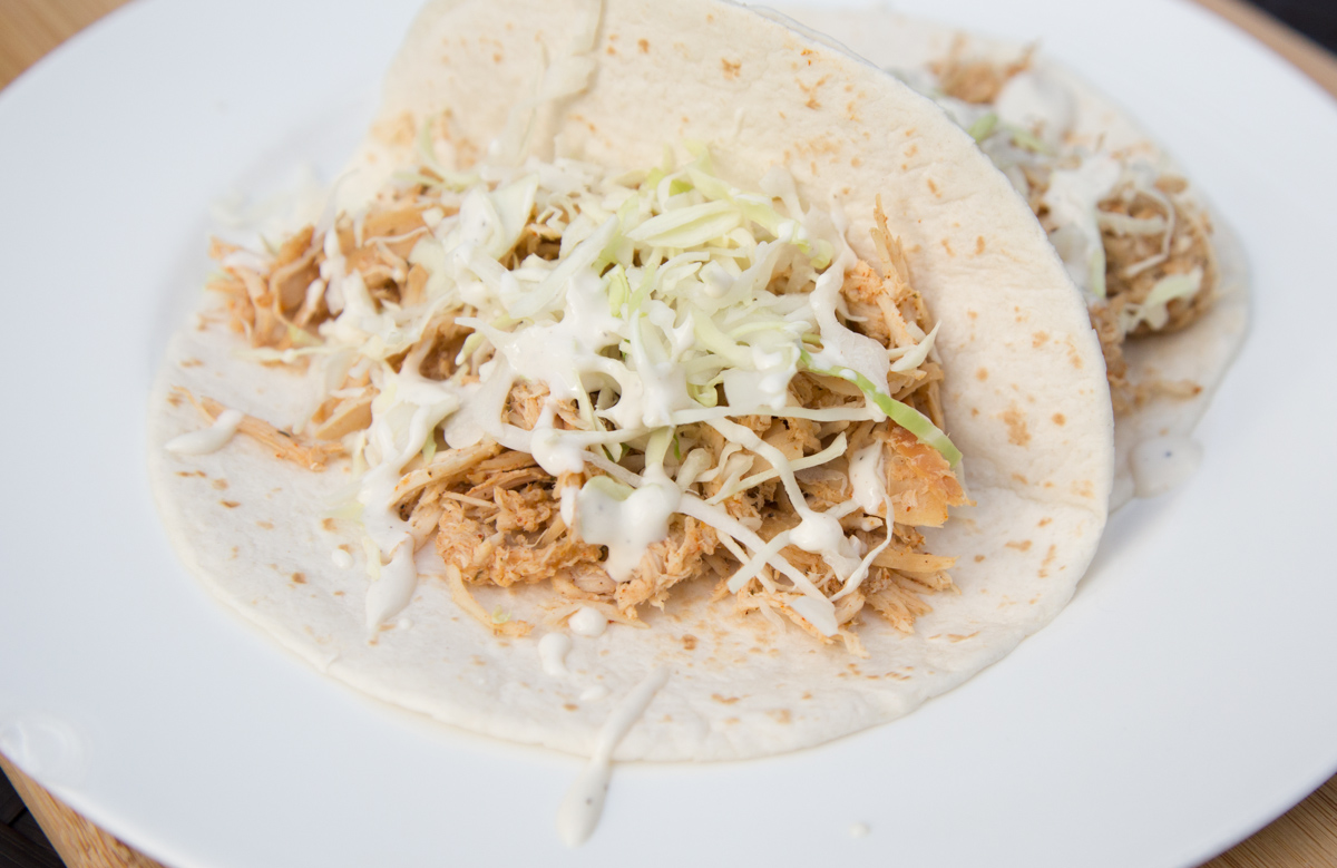 This Slow Cooker Ranch Chicken Tacos dish will be a hit on 5 Dollar Dinners!!!